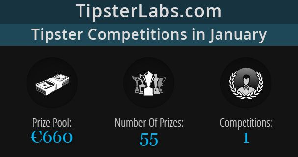 In January we have a tipster competition on TipsterLabs with a whopping prize pool of €660.