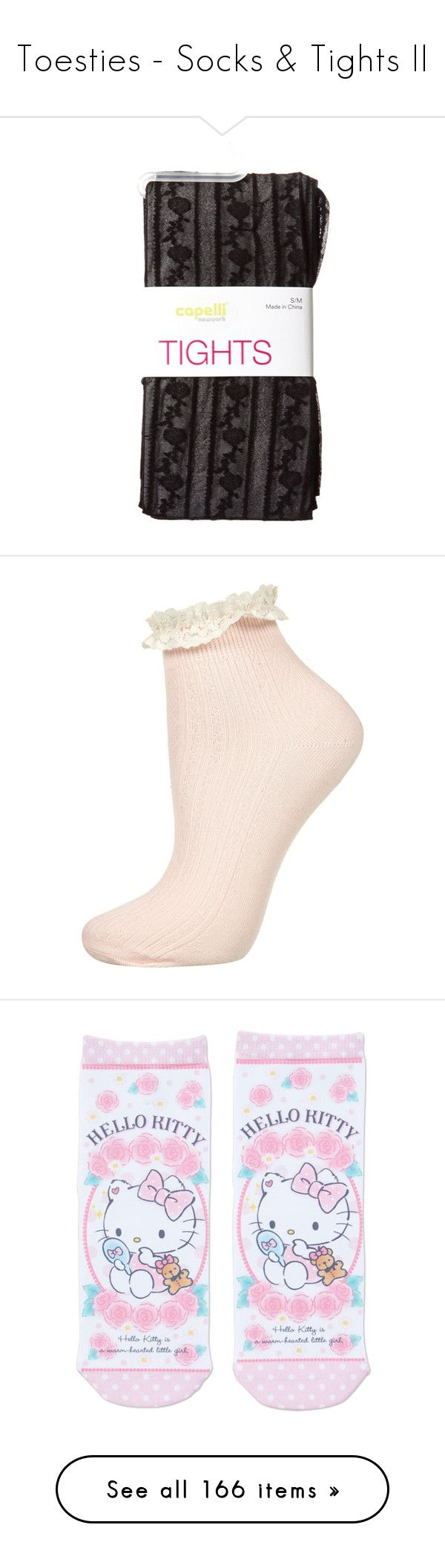 """""""Toesties - Socks & Tights II"""" by cat-on-wheels ❤ liked on Polyvore featuring intimates, hosiery, tights, accessories, socks, leggings, stripe tights, floral tights, striped tights and floral print tights"""