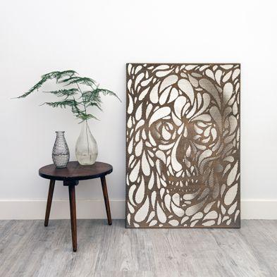engraved lasercut wall decoration