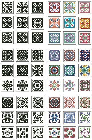 Mini Biscornu Cross Stitch Collection 2 by ester