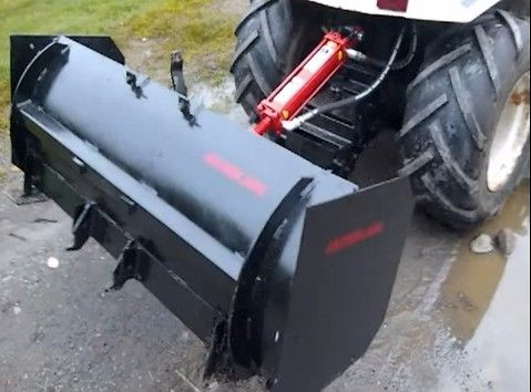 Garden Tractor Box Blade by Hafazz Instructionals -- Homemade garden tractor box blade constructed from surplus steel stock, a hydraulic ram, ball hitch, and hydraulic hose. www.homemadetools...