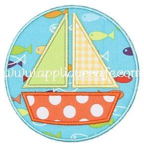 Sailboat Patch Applique Design