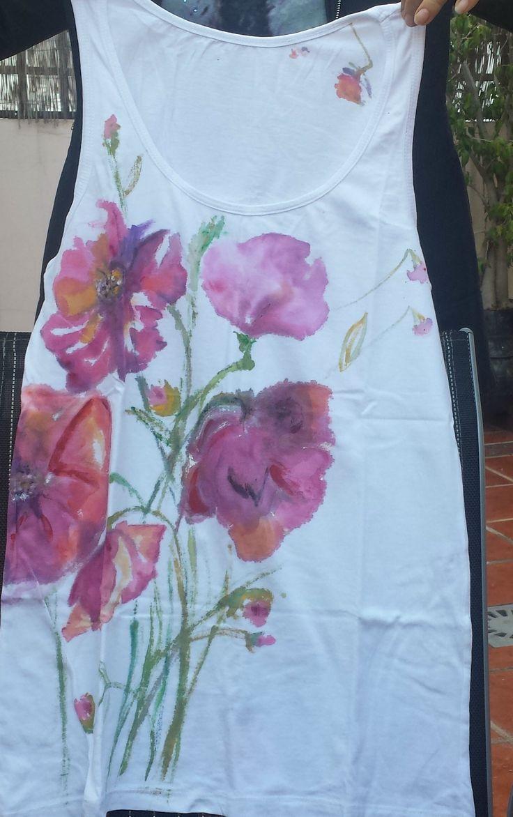 Camisetas pintadas a mano moda pinterest camisetas - Como pintar azulejos a mano ...