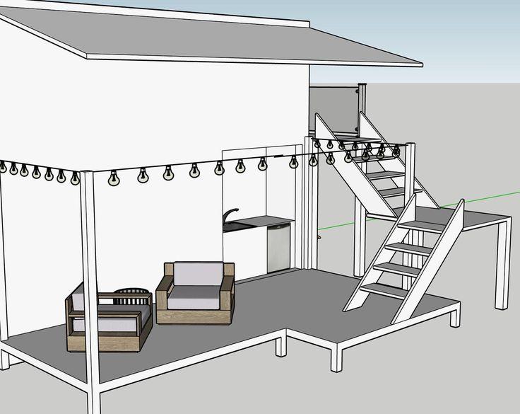 Backyard of tiny house 🏠 (designed one SketchUp) ️give me ... on Sketchup Backyard id=39534