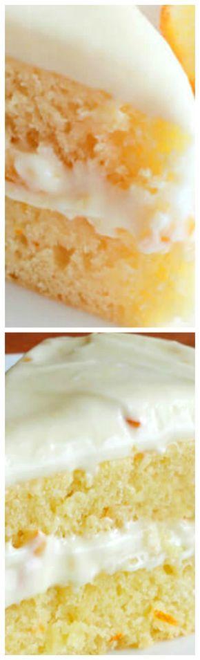 Orange Buttermilk Cake with Orange Cream Cheese Frosting ~ Divine!