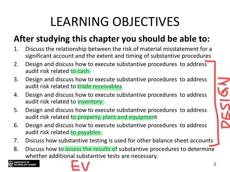 Topic 9 - Substantive testing of balance sheet accounts