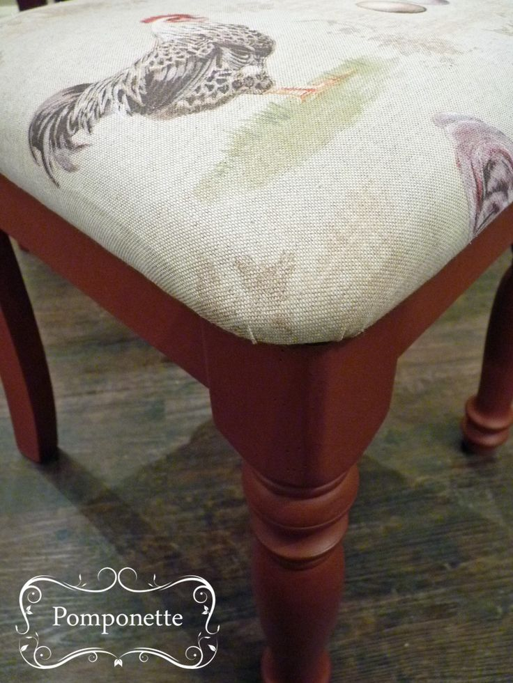Farmhouse Dining Chair  We love this combination   anniesloanhome Primer  Red  chalkpaint with192 best Pomponette   Vintage Hand Painted Furniture images on  . Old Dining Chairs Leicester. Home Design Ideas