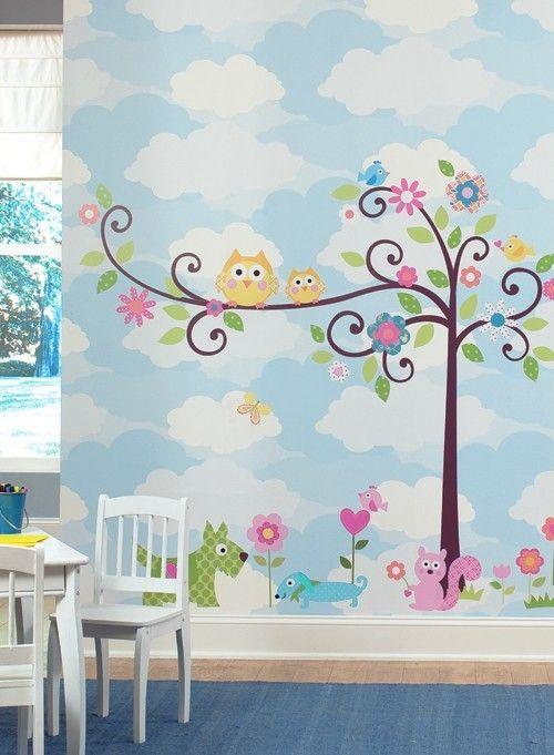 Muursticker babykamer boom met dieren - Eijffinger 808105 ... (source: http://static.mijnwebwinkel.nl/winkel/behang4kidz/full15369097.jpg)