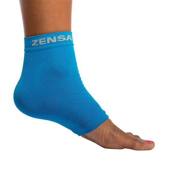 Zensah Ankle Support - Compression Ankle Sleeve, Lightweight Ankle Brace, Relieve Plantar Fasciitis - Best Ankle Support for Running, Basketball, Walking, Jogging, and Everyday Wear