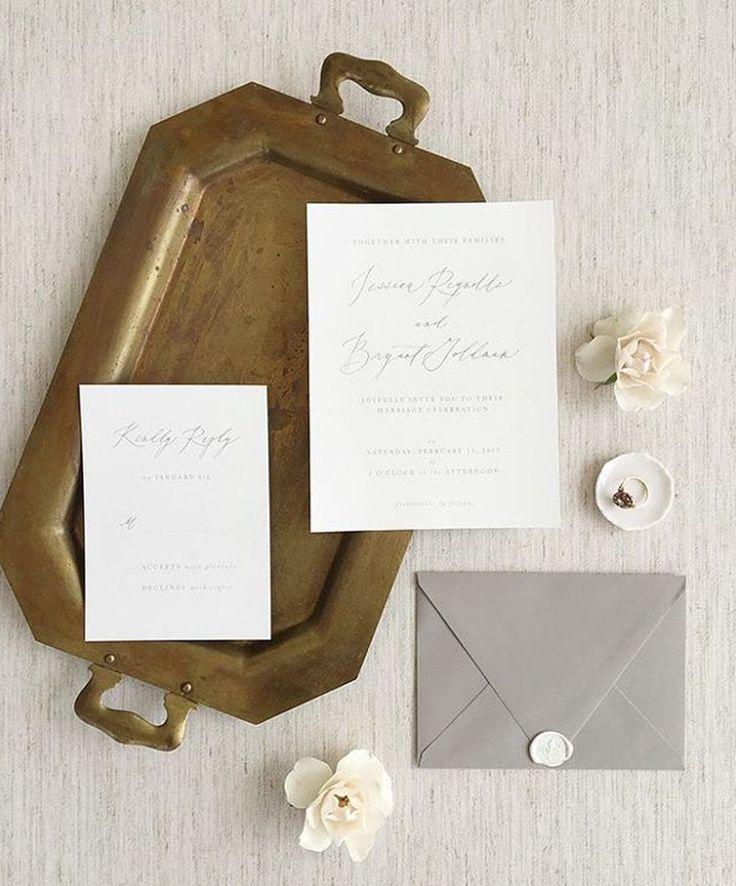 Organic Calligraphy Wedding Stationery | Alley & Co | Fine Art Curation | Wedding Sparrow