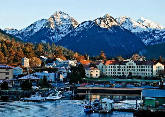 The town of Sitka, Alaska. I wonder if Ryan Reynolds will be there (The Proposal)