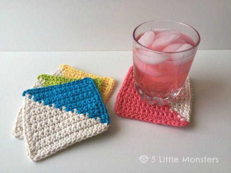 Mejores 959 imágenes de Crochet Coasters / Place Mats en Pinterest ...