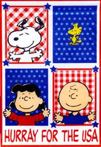 Hurray!Americana Usa, Freedom Rings, Charli Brown, God Blessed, Red White, Snoopy, Peanut Gang 4Th Of July, Patriots Flags, Charlie Brown