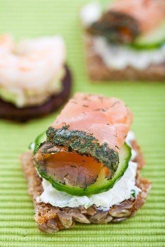 рецепт эклера из свежего лосося