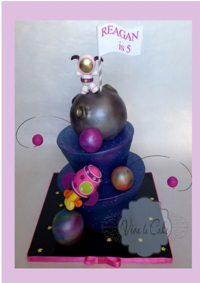 27 best space cake ideas images on pinterest birthdays for Outer space cake design