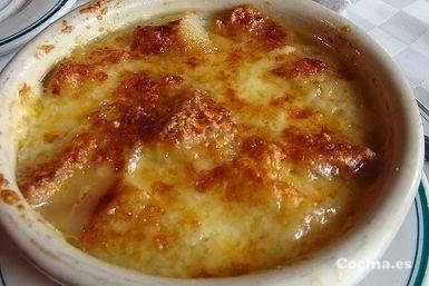 Sopa de cebolla en microondas