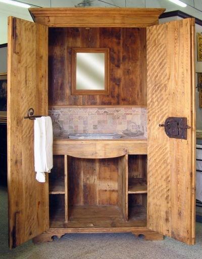 Mobili da bagno in stile, stile rustico, stile country 16
