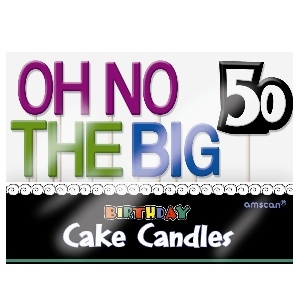 Oh No 50 Birthday Cake Candles