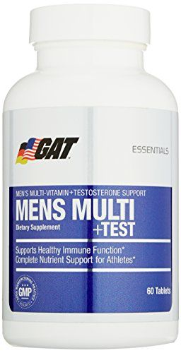 GAT Mens Multi  Test Premium Multivitamin and Complete Testosterone Boosting Support with Tribulus Terristis 60 Tablets30 Servings >>> Click image for more details.