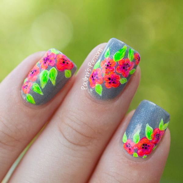 Tropical Flower Nails - Paulinas Passions