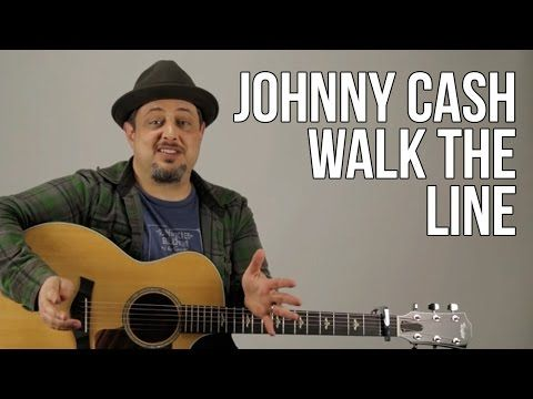 Johnny Cash Guitar Lesson - I Walk The Line Intro Lick - How to Play on Guitar - Tutorial - YouTube