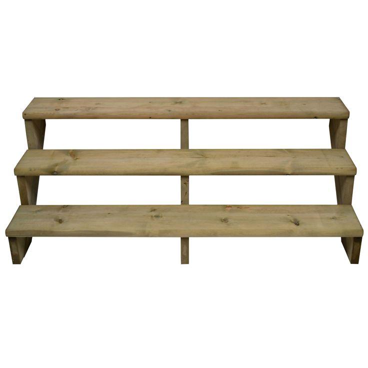 3 Step Deck Stair Kit, (W)300mm (D)240mm | Departments | DIY at B&Q