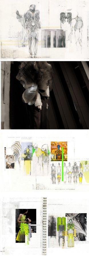 Jousianne Propp Fashion Sketchbook Mood Board