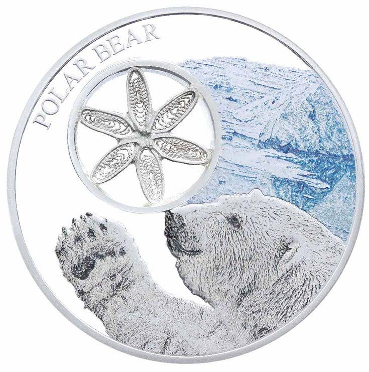 Snowflake Polar Bear Tokelau 1oz Silver coin 2015