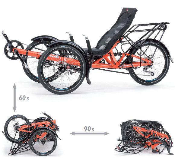 Foldable touring trike Scorpion fx