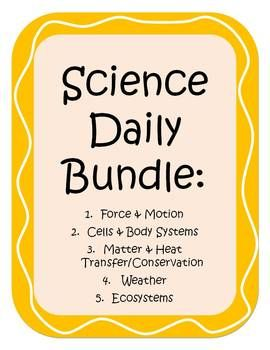 Morning Work/Bell Work/Test Review/Assessment - Science Daily Bundle