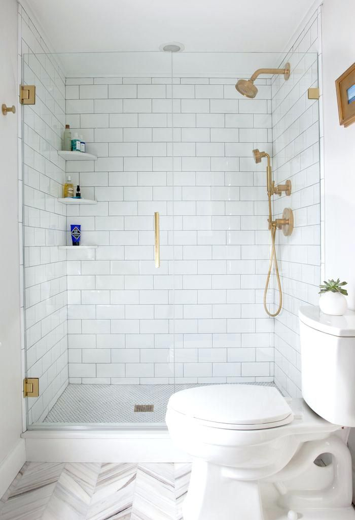 Image Result For Walk In Shower White Subway Tile Small Bathroom