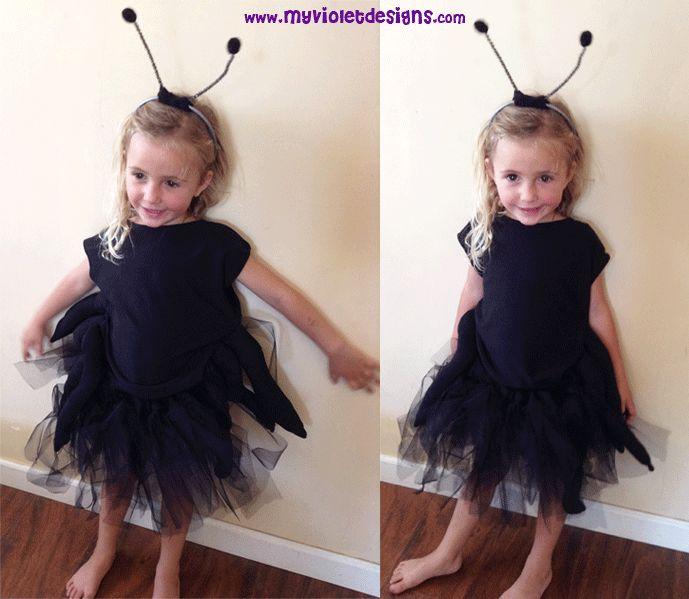 Disfraz de hormiga con pollera de tul. myvioletdesigns.com