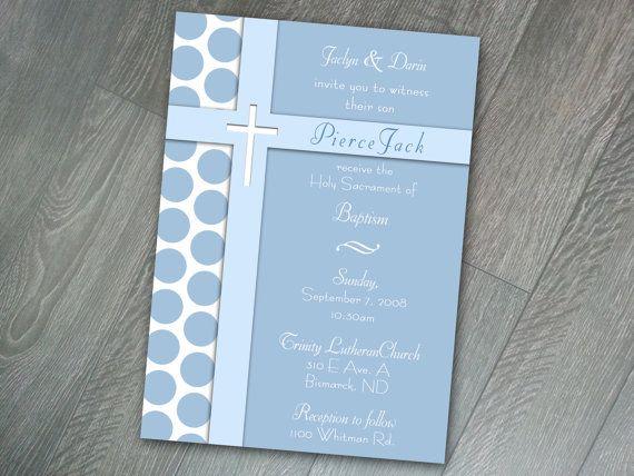 Blue Cross in Cross Printable/ Print Yourself Baptism Invitations, Digital Baptism Invitations, Boy Baptism Invitation Template, 5x7 on Etsy, $10.00