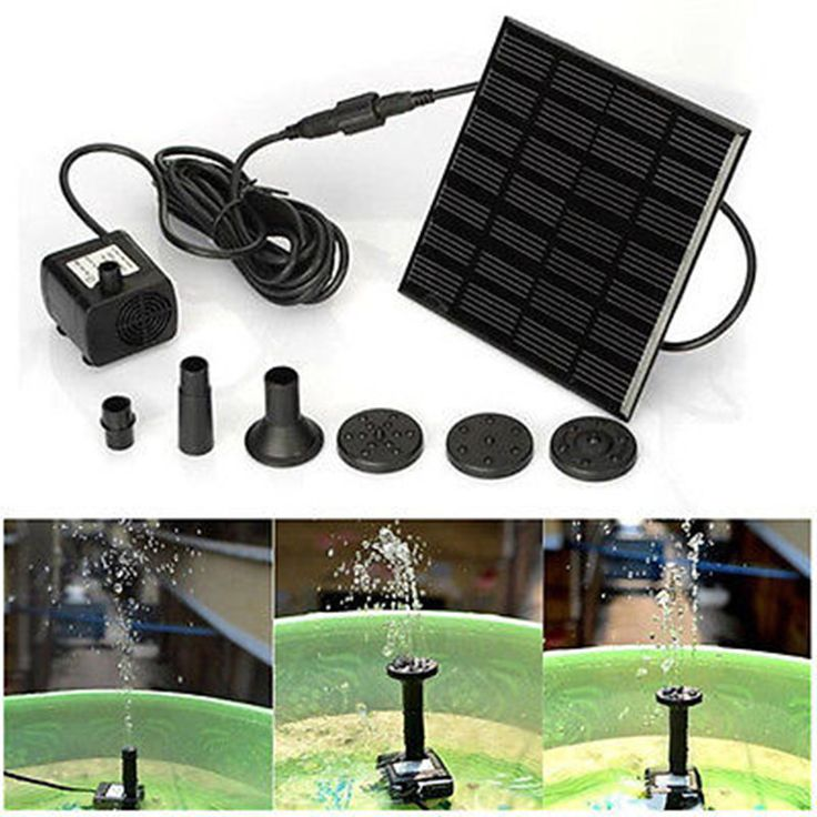 Perfect Solar Powered Pump Solarteichpumpe Wasserpumpe Teichpumpe Gartenpumpe Pump Garden Sprayers Tools Accessories