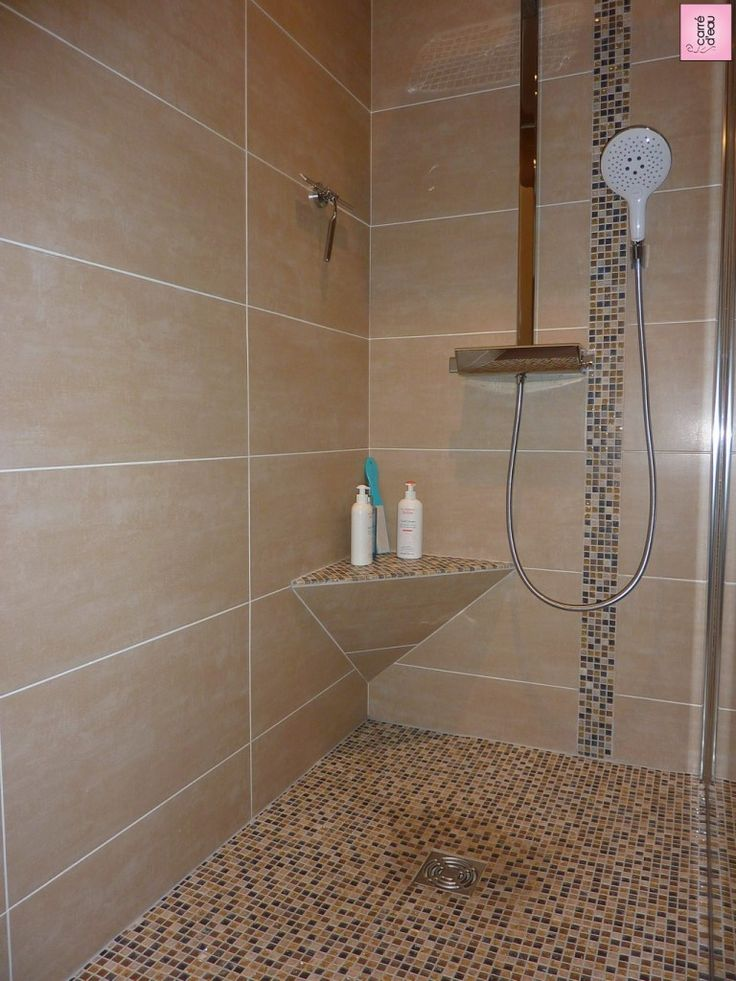 Douche design en faience