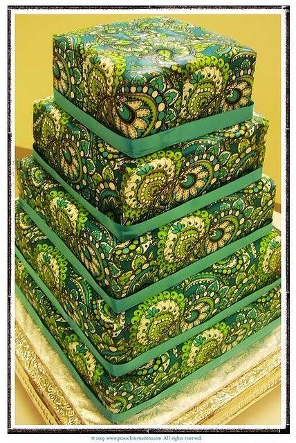Vera Bradley cake!! In my favorite pattern!