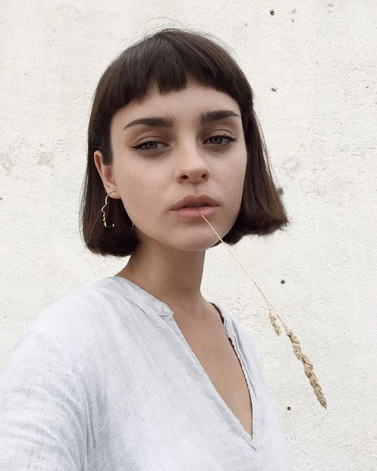 Short bangs /fringe bob