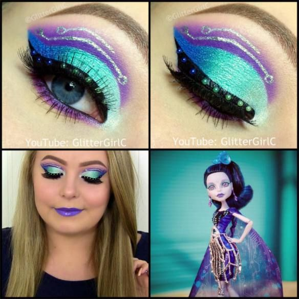 Monster High Boo York Boo York Elle Eedee Makeup look. Youtube channel: full.sc/SK3bIA