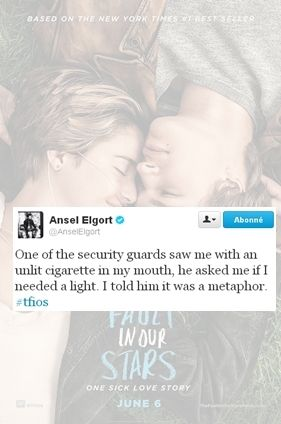 Oh Ansel, I'm in love with you, and I'm not in the business of denying myself the simpler pleasures of existence, like saying I'm in love with you.