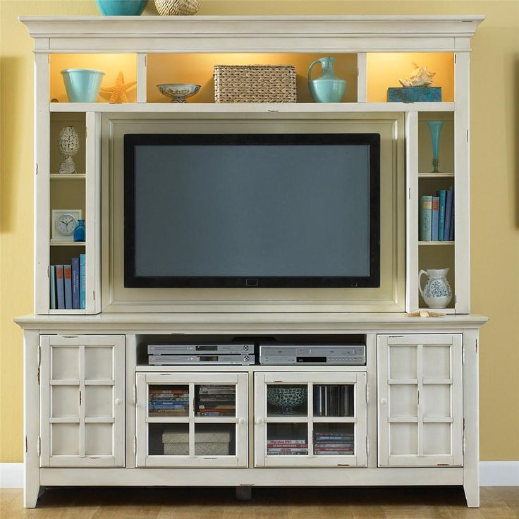 New Generation Painted Entertainment Center With Flat Screen TV Mounting Area By Liberty Furniture