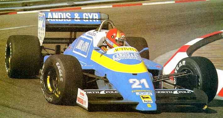 Alex Caffi, Osella-Alfa Romeo FA1I, the Monaco Grand Prix 1987