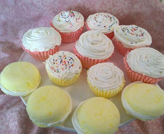 Homemade Bath Bombs  Dessert  Cupcake by MellowCrafts87 on Etsy