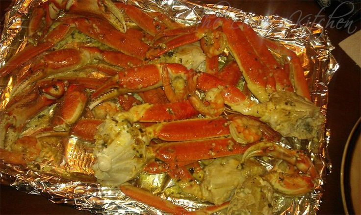 "Steamed Alaskan Crab Legs & Shrimp ""Jumble"" With Garlic-Butter Sauce"