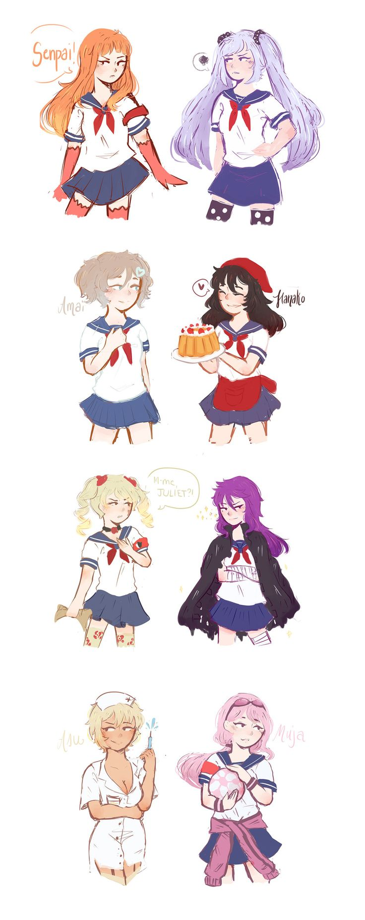 Yandere Simulator : Outfit Swap by ado-mi on DeviantArt