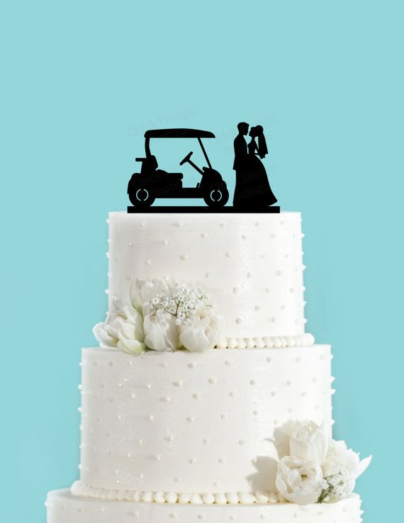 Country Club mariage Golf Cake Topper (acrylique)