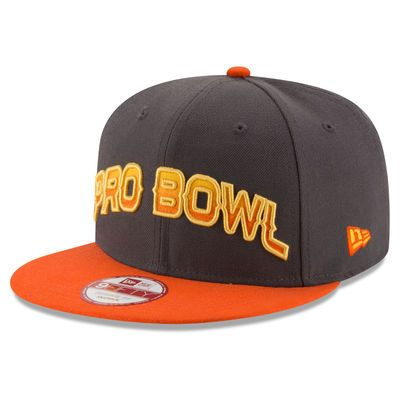 Men's New Era Graphite/Orange 2016 Pro Bowl 9FIFTY Adjustable Hat