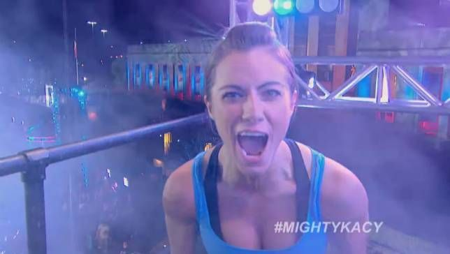 Former gymnast recently became the first woman ever to complete the grueling obstacle course.