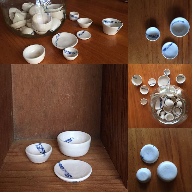 Miniature porcelain dishes- coming to my Etsy shop soon