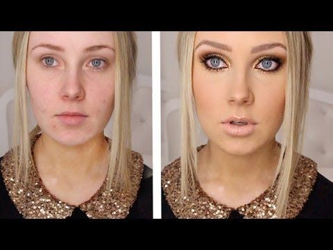 This girl has lots of fun makeup tutorials!....& Wow...that is a drastic difference!