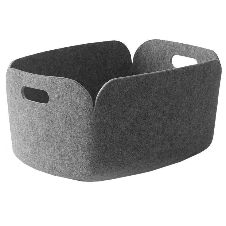 Restore oppbevaringskurv grå Muuto - Kjøp møbler online på ROOM21.no